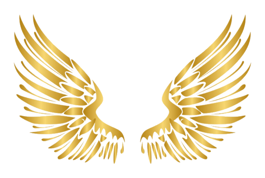 Wings clipart gold