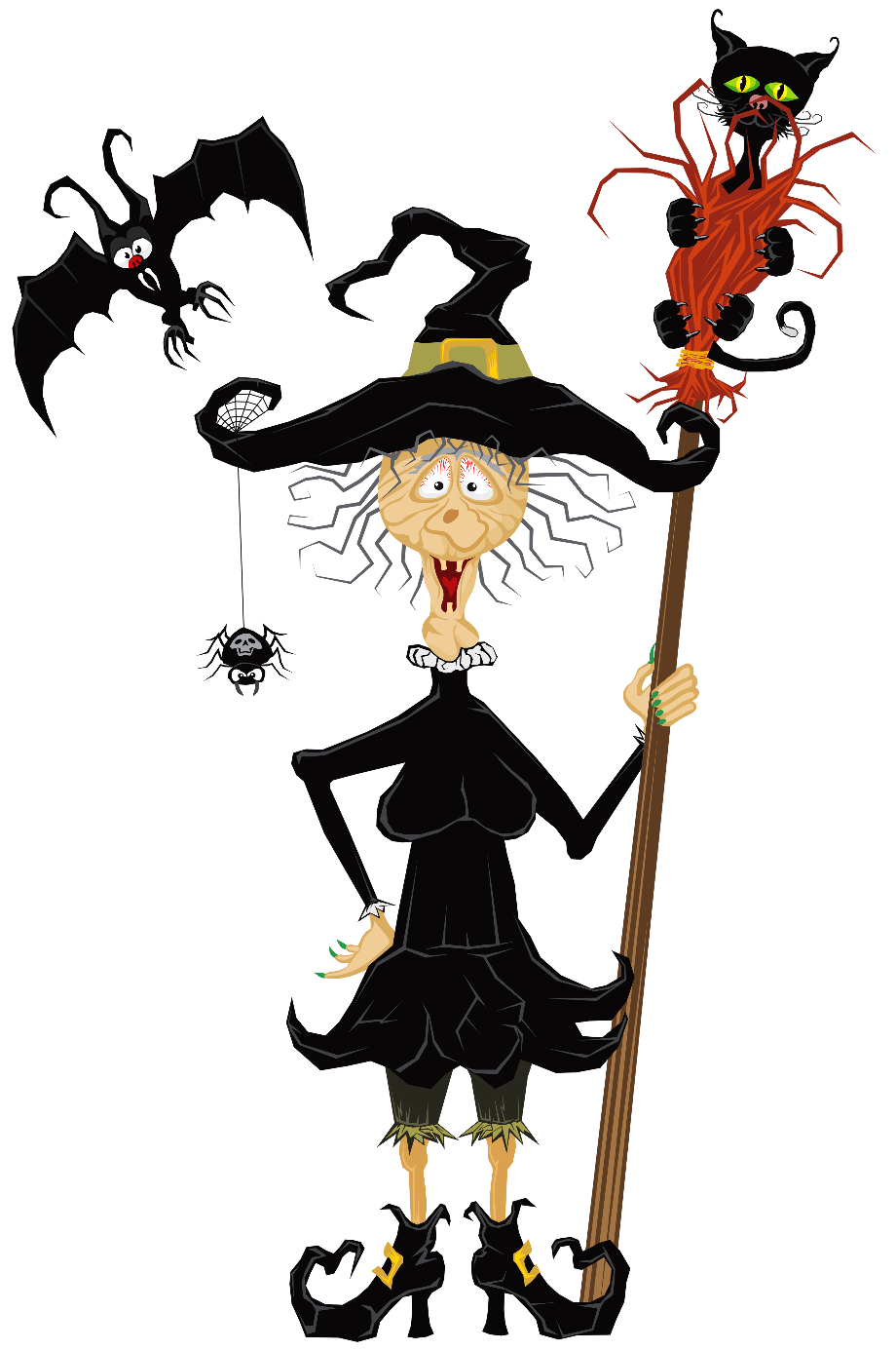 Witch clipart creepy halloween