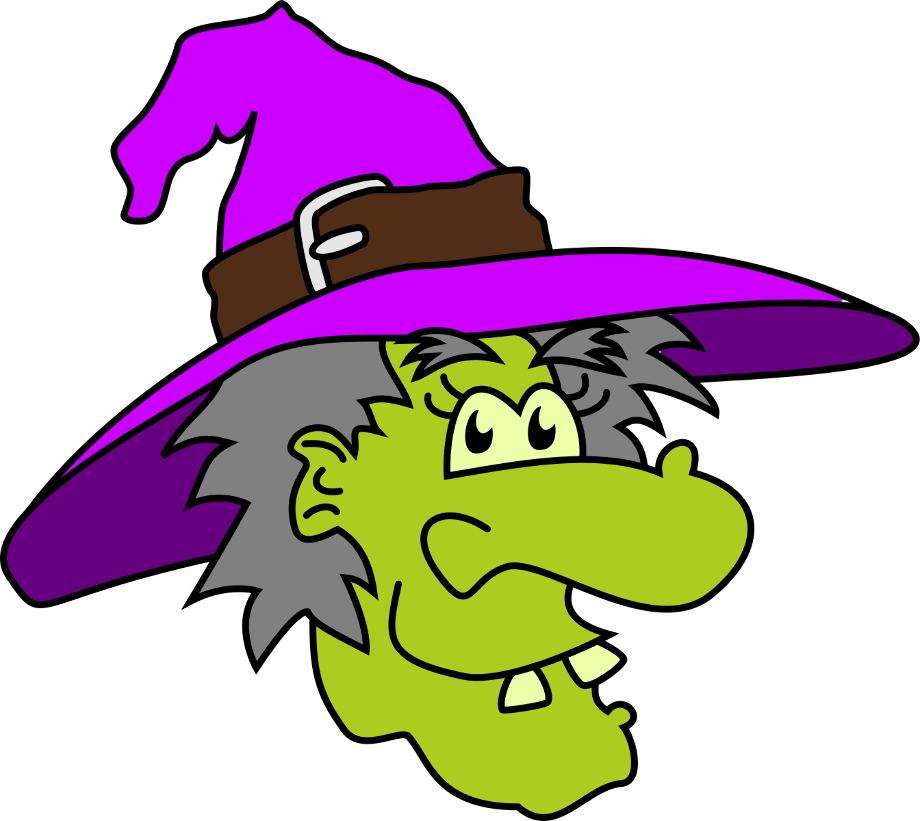 Witch clipart creepy free