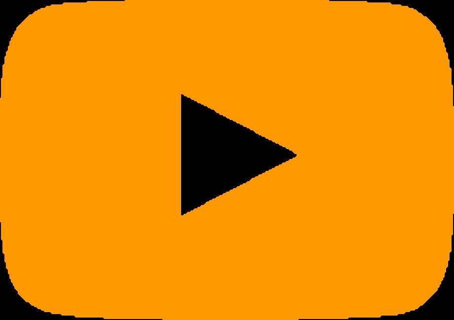 Youtube logo transparent orange