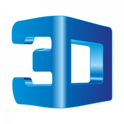3d logo transparent