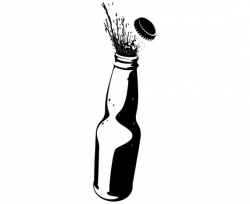 alcohol clipart silhouette