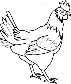 chicken clipart black and white small