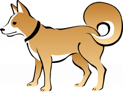 Dog clipart blue