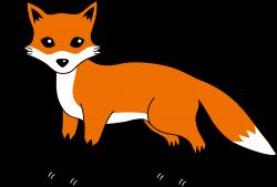 fox clipart orange