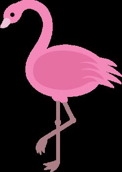flamingo clip art simple