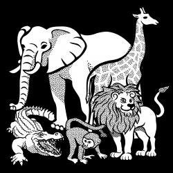 Animal clipart watercolour