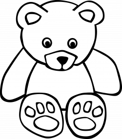 teddy bear clipart black