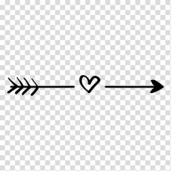 heart clipart black and white arrow