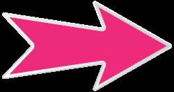 transparent arrow pink