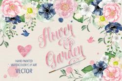 garden clipart watercolor