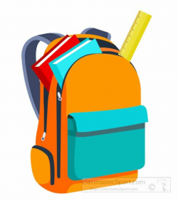 backpack clipart open