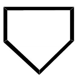 baseball diamond clipart silhouette