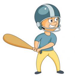 baseball clip art kid