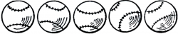 baseball clip art retro