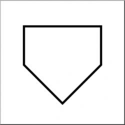 baseball diamond clipart home plate