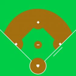 baseball diamond clipart simple