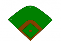 baseball diamond clipart cartoon