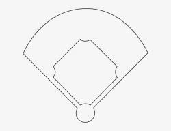 baseball clipart black and white diamond
