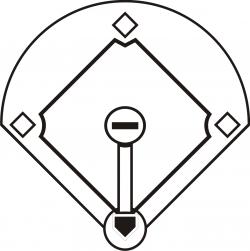 baseball diamond clipart vector
