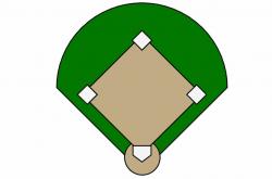 baseball diamond clipart blank