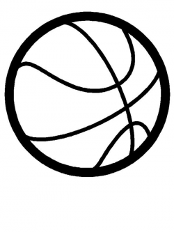 basketball clipart black and white small