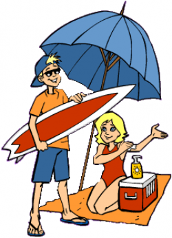 vacation clipart person