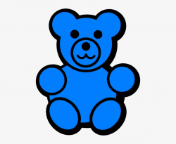 teddy bear clipart blue