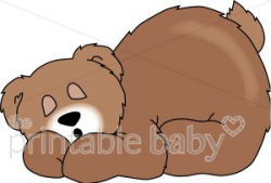 teddy bear clipart sleeping