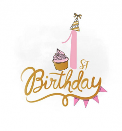 birthday clipart 1st