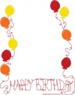 free birthday clipart frame