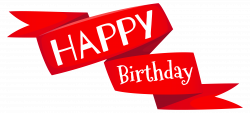 happy birthday clipart red