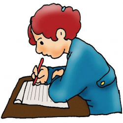 studying clipart student writing