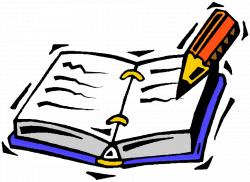 writing clipart journal