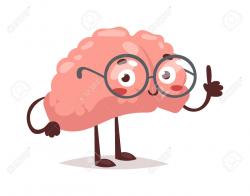 brain clipart cute