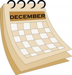 december clipart calendar