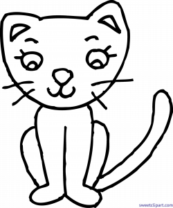 clipart cat coloring