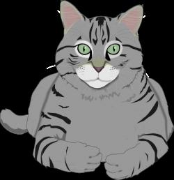 Cat clipart grey