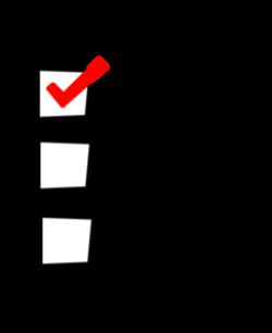 checklist clipart student
