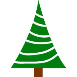 pine tree clip art stylized