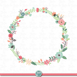 wreath clipart floral