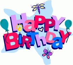 free birthday clipart word
