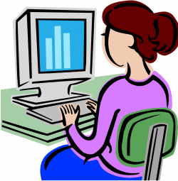 student clipart computer