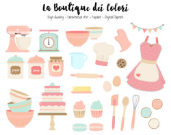 baking clipart pink
