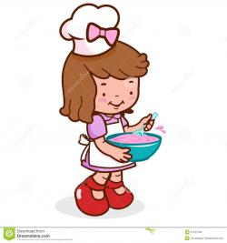 baking clipart little girl