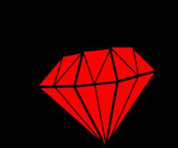diamond clipart red