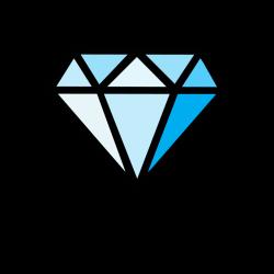 diamond clipart blue