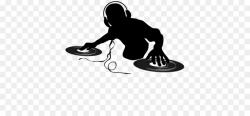 dj clipart silhouette