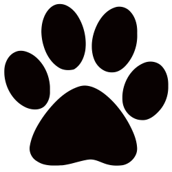 paw prints clipart cheetah