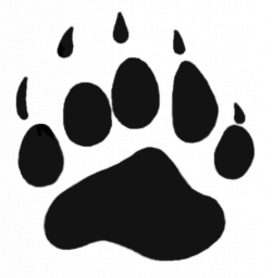 paw prints clipart bear